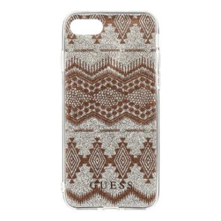 Silikonové pouzdro GUESS na iPhone SE 2020 / 8 / 7 Ethnic Chic Tribal 3D