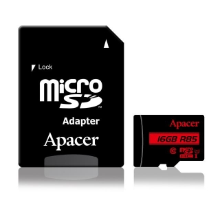 Apacer paměťová karty Micro SDHC 16GB Class 10 UHS-I (up to 85MB/s) +adapter